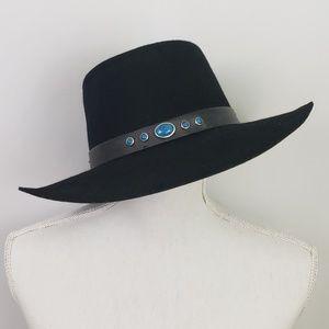 Bee Hat Co Vintage Western Cowboy Hat Black Wool